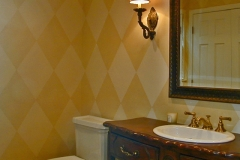 Hall Bath - Furniture Vanity & Artist Painted Walls