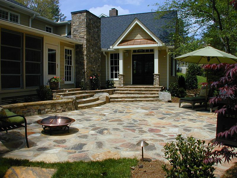 New Stone Patio and Kitchen