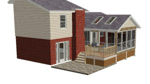 Screen Porch Design Rendering