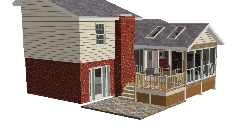 Screen Porch Design Rendering