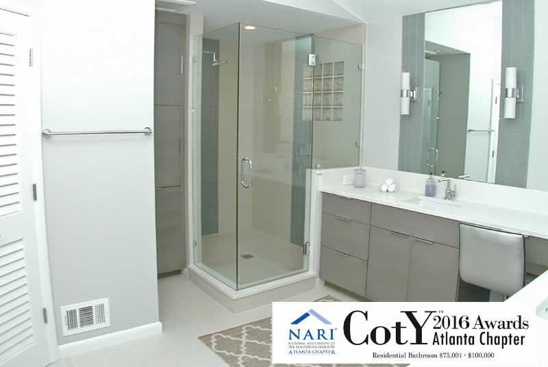 Dunwoody - Modern Gray Master Bath